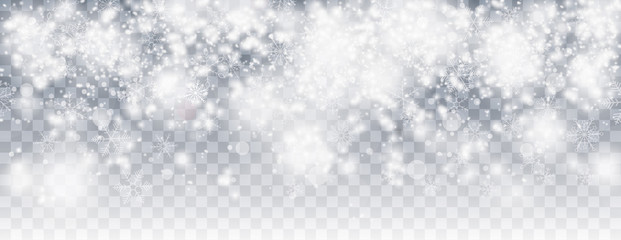 Snowfall Bokeh Transparent Christmas Header