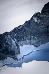 Mountain ridge close-up natural art Jotunheimen Norway
