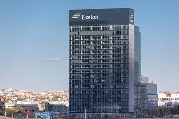 BALTIMORE, MARYLAND - OCTOBER 04, 2019:  Exelon Building in Baltimore, Maryland.