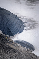 Jotunheimen glacier arty forms in the snow Norway