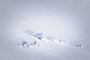 Natural snow art at glacier Norway