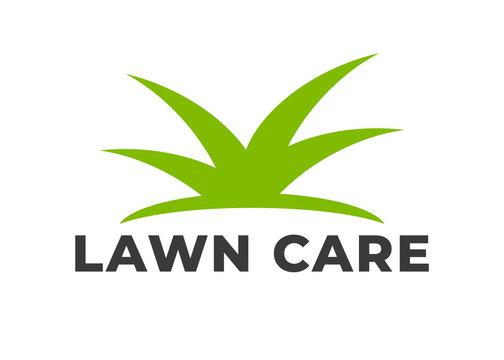 Lawn care logo vector. Lawn grass service vector logotype