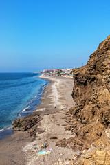Fels und Strand bei Torrox Costa