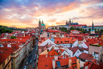 Wall Mural - Prague old town at sunset