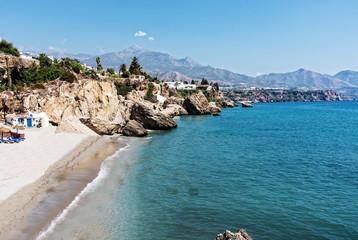 Strand bei Nerja in Andalusien