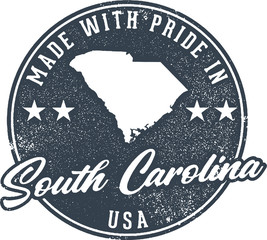 Made in South Carolina State Packaging Label
