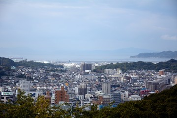 The view of Matsuyama city,Japan