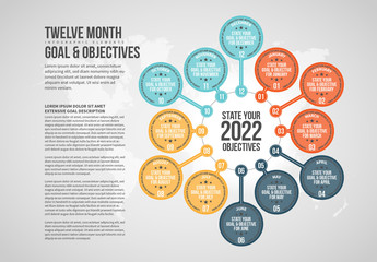 Twelve Month Objectives Infographic