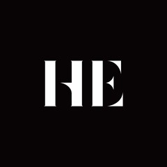 HE Logo Letter Initial Logo Designs Template