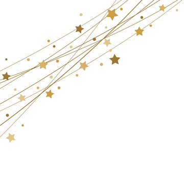 stars on strings background for christmas time