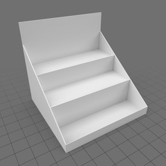 Three tiers counter display unit