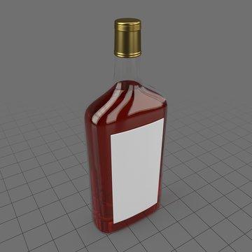 Glass alcohol bottle