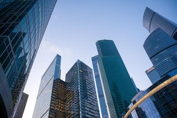 Aluminium Prints Singapore Skyscrapers in downtown
