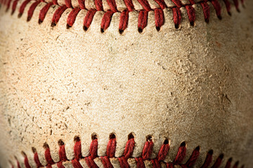 Garden Poster Retro Closeup of a dirty baseball