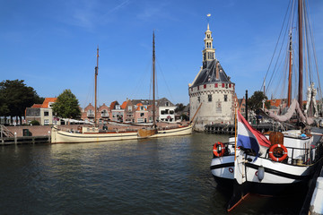 Historical boats in Hoorn, Holland