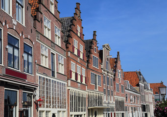 Gables of houses in Hoorn, Holland