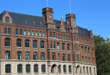 Historical office building in Hamburg, Germany