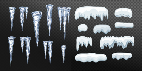 Icicles and Snow cap set