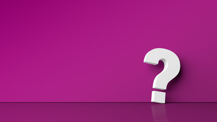 Question mark on a purple background. Background for design with graphic question