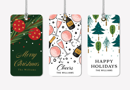 Holiday Gift Tags Layout Set