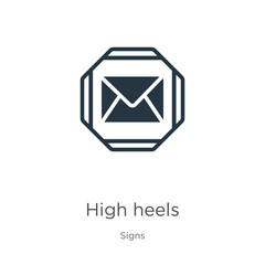 High heels icon vector. Trendy flat high heels icon from signs collection isolated on white background. Vector illustration can be used for web and mobile graphic design, logo, eps10