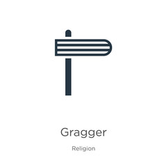 Gragger icon vector. Trendy flat gragger icon from religion collection isolated on white background. Vector illustration can be used for web and mobile graphic design, logo, eps10