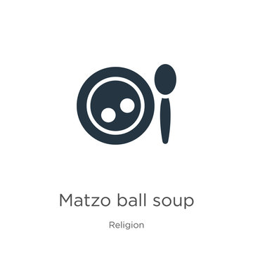 Matzo ball soup icon vector. Trendy flat matzo ball soup icon from religion collection isolated on white background. Vector illustration can be used for web and mobile graphic design, logo, eps10