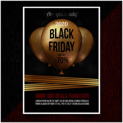 Black Friday commercial sale flyer Design Template
