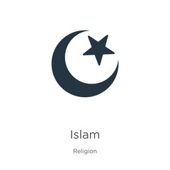 Islam icon vector. Trendy flat islam icon from religion collection isolated on white background. Vector illustration can be used for web and mobile graphic design, logo, eps10