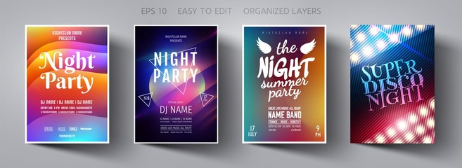 Poster design. Flyer template. Abstract Background. Template design. Party background.  Poster template. Vector Background. Layout Template.  Magazine cover. Vector collection