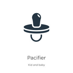 Pacifier icon vector. Trendy flat pacifier icon from kid and baby collection isolated on white background. Vector illustration can be used for web and mobile graphic design, logo, eps10