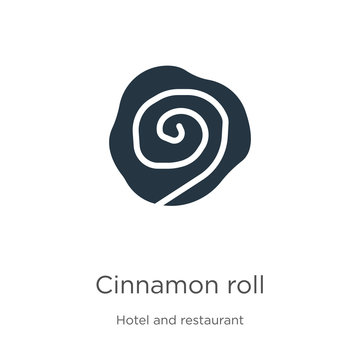 Cinnamon roll icon vector. Trendy flat cinnamon roll icon from hotel and restaurant collection isolated on white background. Vector illustration can be used for web and mobile graphic design, logo,