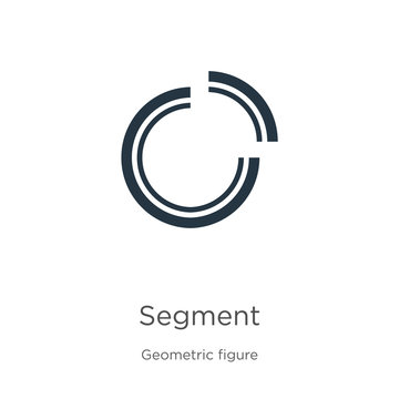 Segment icon vector. Trendy flat segment icon from geometry collection isolated on white background. Vector illustration can be used for web and mobile graphic design, logo, eps10