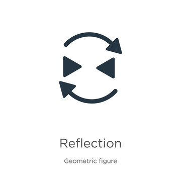 Reflection icon vector. Trendy flat reflection icon from geometry collection isolated on white background. Vector illustration can be used for web and mobile graphic design, logo, eps10