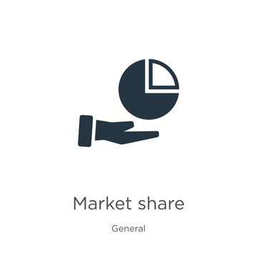 Market share icon vector. Trendy flat market share icon from general collection isolated on white background. Vector illustration can be used for web and mobile graphic design, logo, eps10