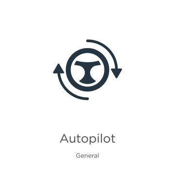 Autopilot icon vector. Trendy flat autopilot icon from general collection isolated on white background. Vector illustration can be used for web and mobile graphic design, logo, eps10