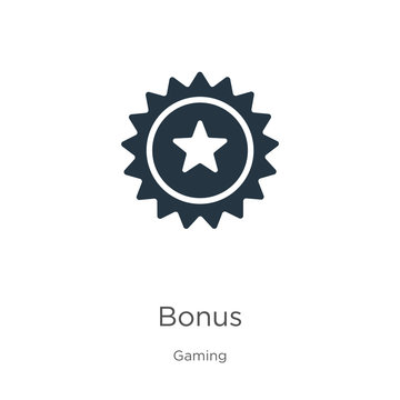 Bonus icon vector. Trendy flat bonus icon from gaming collection isolated on white background. Vector illustration can be used for web and mobile graphic design, logo, eps10