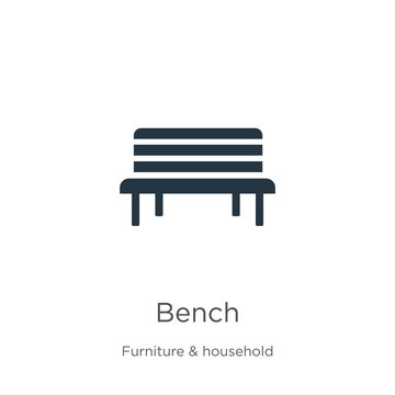 Bench icon vector. Trendy flat bench icon from furniture and household collection isolated on white background. Vector illustration can be used for web and mobile graphic design, logo, eps10