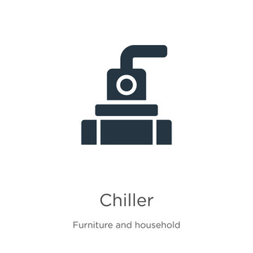 Chiller icon vector. Trendy flat chiller icon from furniture and household collection isolated on white background. Vector illustration can be used for web and mobile graphic design, logo, eps10