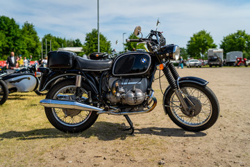PAAREN IM GLIEN, GERMANY - MAY 19, 2018: Motorcycle BMW R75/5, 1970.