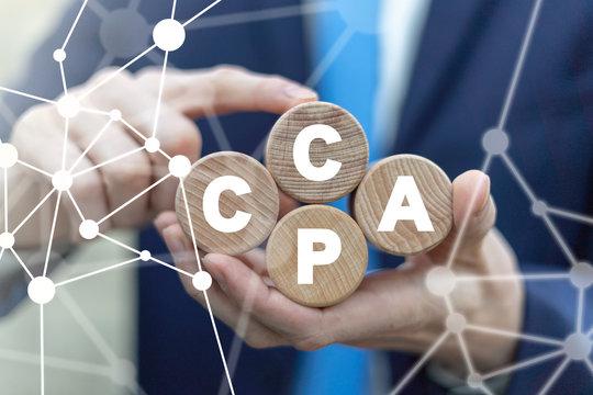CCPA California Consumer Protection Act Concept.