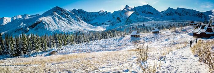 Fototapeta Tatr - Hala Gasienicowa, zima 2019