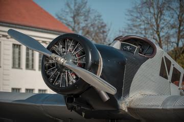 Old German propeller passenger airplane