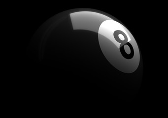 Number eight billiard ball