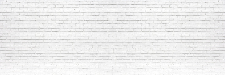 Poster Brick wall white brick wall may used as background