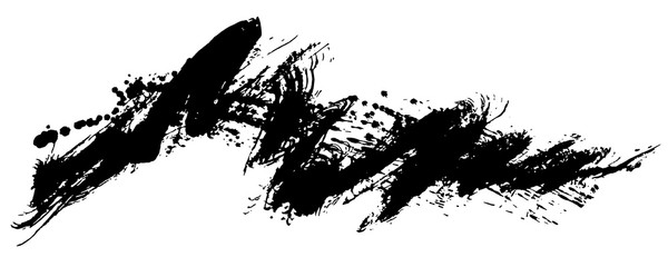 書道 しぶき 毛筆イラスト