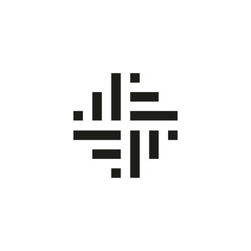 Logo design with woven icon