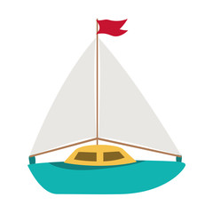 Isolated sailboat toy vector design