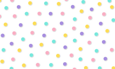 Festival pattern Abstract kawaii pattern polka dot circle background. Soft gradient pastel. Concept for wedding card design or presentation