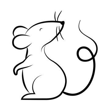 Isolated mouse cartoon vector design
